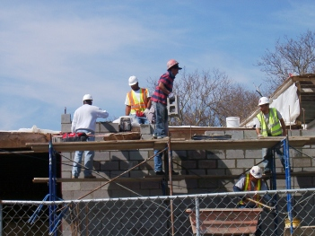 bricklayers at work-free image