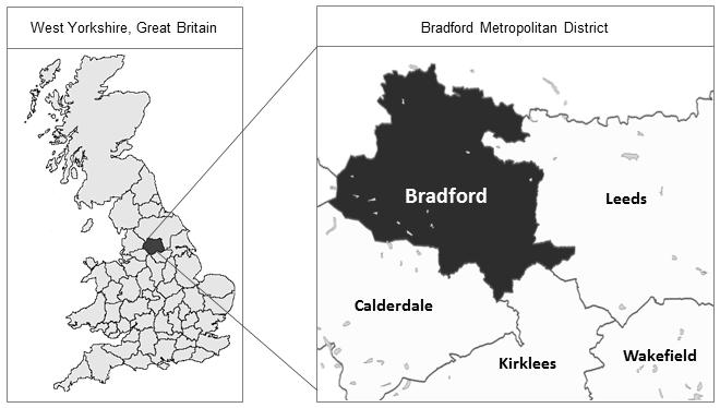 Location of the Born in Bradford study